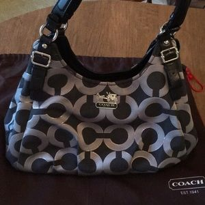 Gently used authentic Coach signature hobo bag.